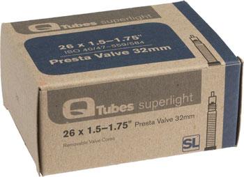 Q-Tubes Superlight Tube (26 x 1.5-1.75 inch, Presta Valve)