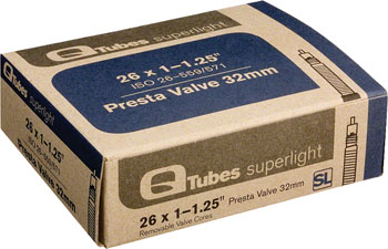 Q-Tubes Superlight Tube (26 x 1-1.25 inch, Presta Valve)