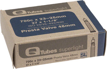 Q-Tubes Superlight Tube (700c x 23-25mm, Presta Valve)