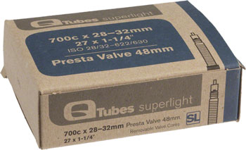 Q-Tubes Superlight Tube (700c x 28-32mm, Presta Valve) Size: 32mm Presta Valve