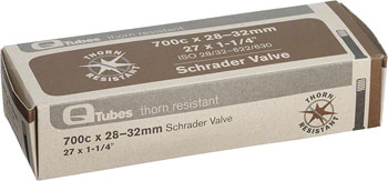 Q-Tubes Thorn Resistant Tube (700c x 28-32mm, Schrader Valve)
