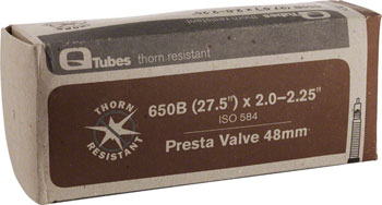 Q-Tubes Thorn Resistant Tube (27.5 x 2.0-2.25 inch, 48mm Presta Valve) (650B)