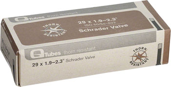 Q-Tubes Thorn Resistant Tube (29 x 1.9-2.3 inch, Schrader Valve) Size: 29 x 1.90 – 2.30