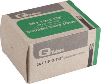 Q-Tubes Tube (26 x 1.9-2.125 inch, 48mm Schrader Valve)