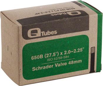 Q-Tubes Tube (27.5 x 2.0-2.25 inch, 48mm Schrader Valve) (650B)