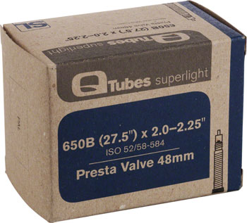 Q-Tubes Superlight Tube (27.5 x 2.0-2.25 inch, Presta Valve) (650B)