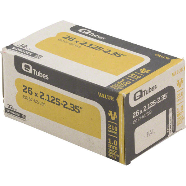 Q-Tubes Value Series Tube (26-inch x 2.125-2.35 Schrader Valve)