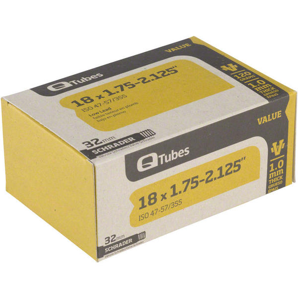 Q-Tubes Value Series Tube (18-inch x 1.75-2.125 Schrader Valve)
