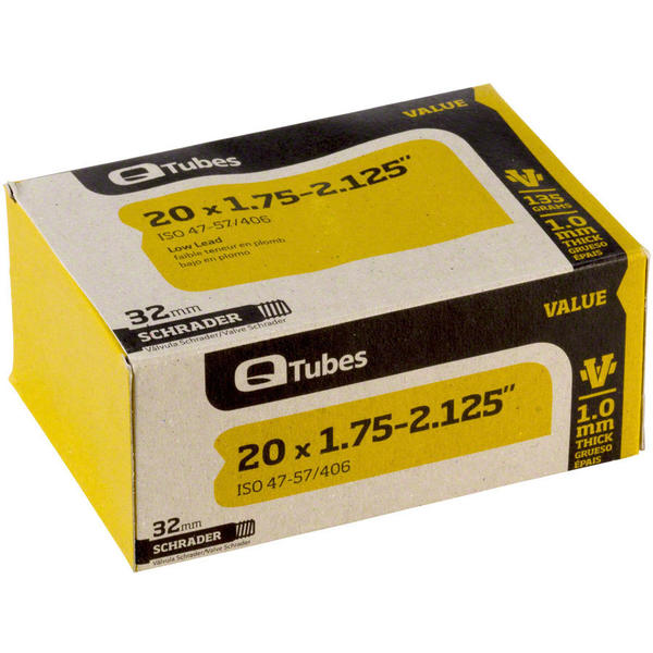 Q-Tubes Value Series Tube (20-inch x 1.75-2.125 Schrader Valve)