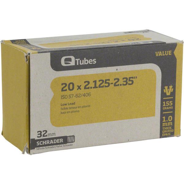 Q-Tubes Values Series Tube (20-inch x 2.125-2.35 Schrader Valve)