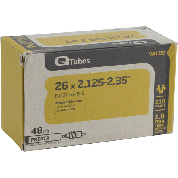 Q-Tubes Value Series Tube (26-inch x 2.125-2.35 Presta Valve)