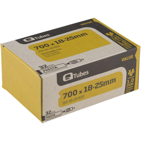 Q-Tubes Values Series Tube (700C x 18-25 Presta Valve)