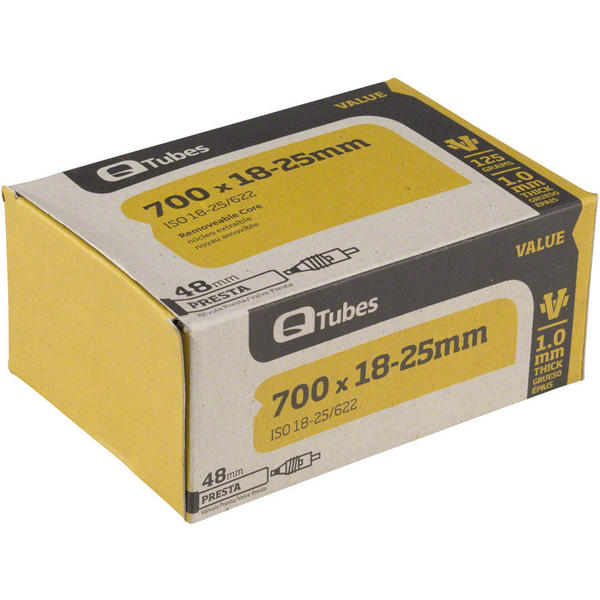 Q-Tubes Value Series Tube (700C x 18-25 Presta Valve)