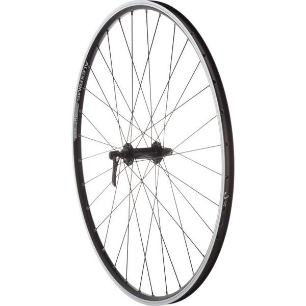 Quality Wheels Shimano Deore M610 / Alex ACE19 700c Front Axle | Color | Size: QR | Black | 700c