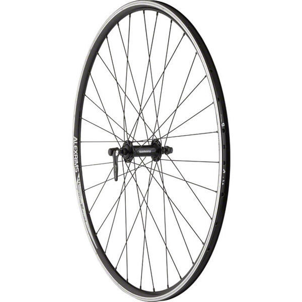 Quality Wheels Shimano Tiagra RS400 / Alex DA22 700c Front Axle | Color | Size: QR | Black | 700c
