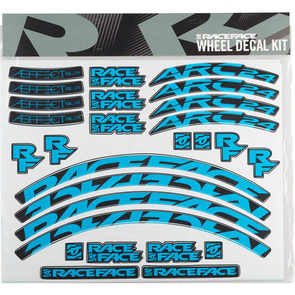 Race Face Arc/Aeffect Rim Decal Kits Color: Blue