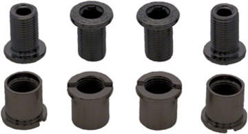 Race Face Chainring Bolt Pack Set of 4 12.5mm Bolt/Nut Color: Black