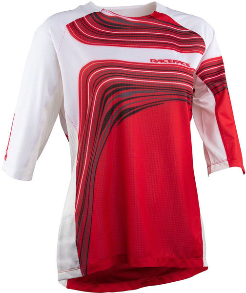 Race Face Khyber 3/4 Sleeve Jersey Color: Rouge