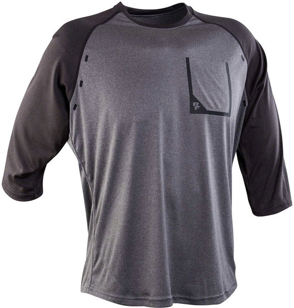 Race Face Stage 3/4 Sleeve Jersey Color: Charcoal