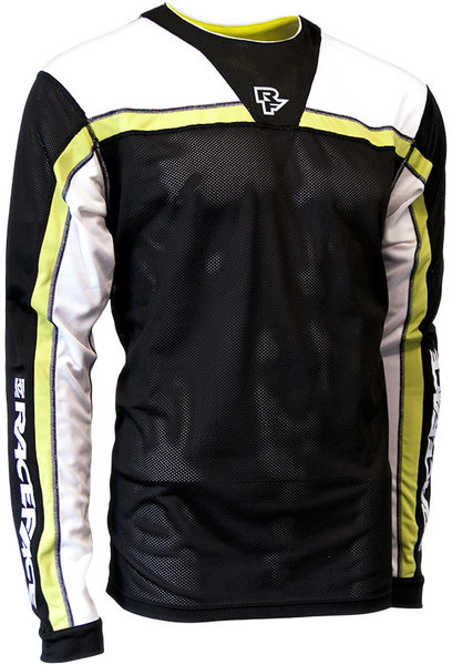 Race Face Stage Long Sleeve Jersey Color: Black/Lime