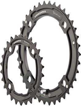 Race Face Turbine 10-Speed Chainring Set, 120mm x 80mm Color: Black