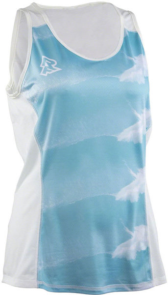 Race Face Wave Tank Top Color: Sky