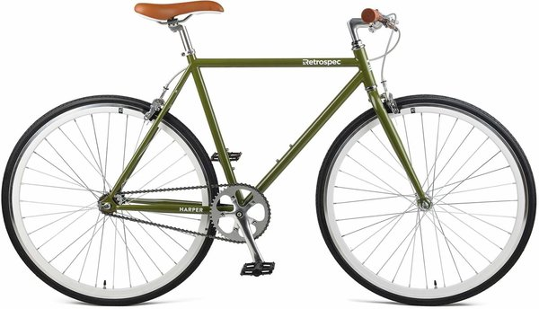 Retrospec Harper Fixed-Gear/Single-Speed Color: Sage Green