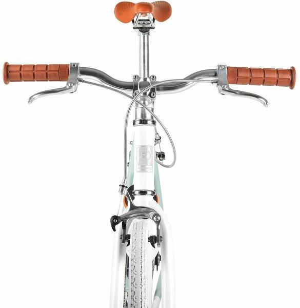 Black Track Handlebar steel  25.4mm fixie cruiser mountain bike 0 rise