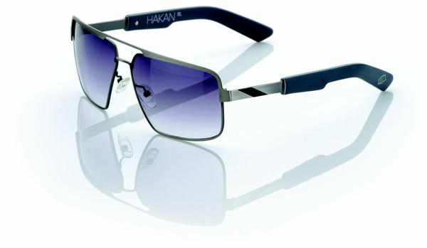 100% Hakan Sunglasses Color | Lens: Brushed Silver | Gray