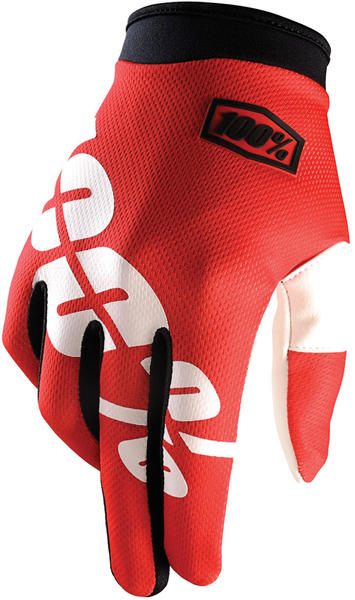 100% iTrack Gloves Color: Fire Red
