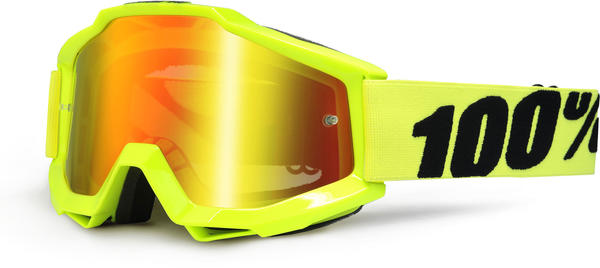 100% Accuri Goggles Color | Lens: Fluo Yellow | Mirrored|Clear