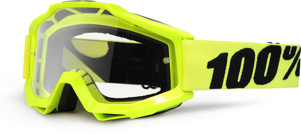 100% Accuri Goggles Color | Lens: Fluo Yellow | Clear