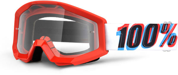 100% Strata Youth Goggles Color | Lens: 3D | Clear