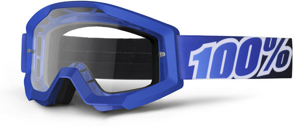 100% Strata Goggles Color | Lens: Blue Lagoon | Clear