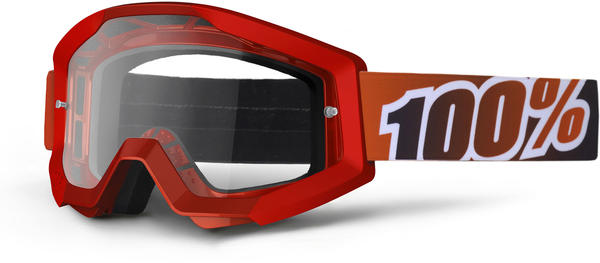 100% Strata Goggles Color | Lens: Fire Red | Clear