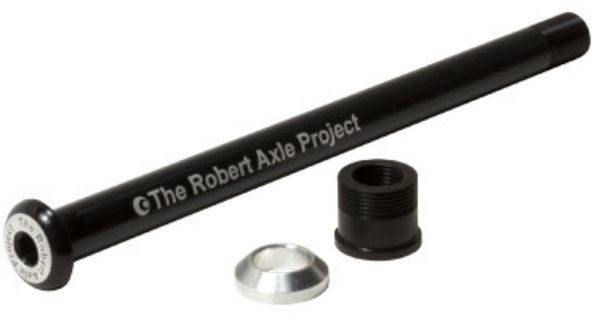 Robert Axle Project Front Lightning Bolt-On NAILD Thru Axle Color: Black