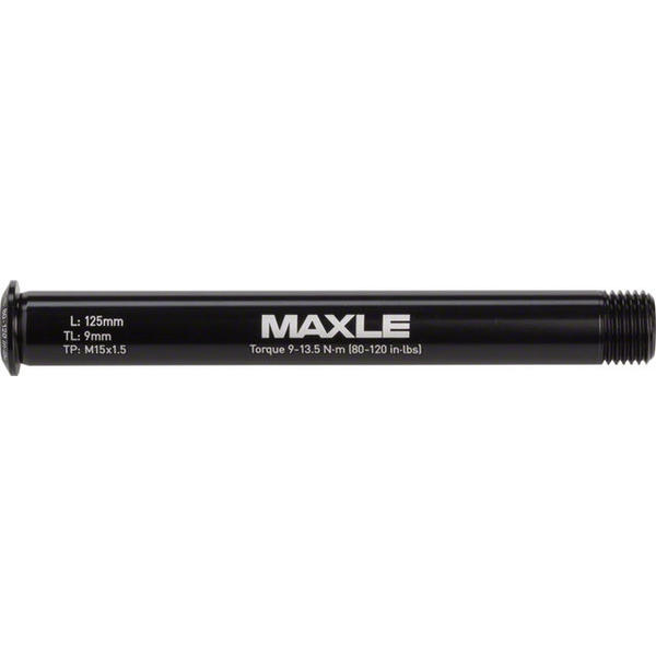 RockShox Maxle Stealth Front Thru-Axle Color | Length | Size | Thread Length | Thread Pitch: Black | 125mm | 100 x 15mm | 9mm | 15 x 1.5mm