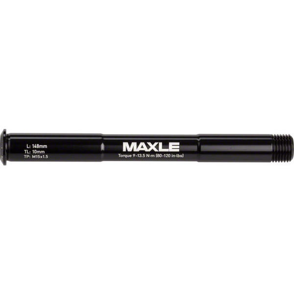 RockShox Maxle Stealth Front Thru-Axle Color | Length | Size | Thread Length | Thread Pitch: Black | 148mm | 100 x 15mm | 9mm | 15 x 1.5mm