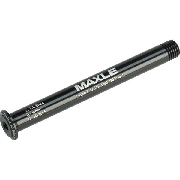 RockShox Maxle Stealth Front Thru-Axle Color | Length | Size | Thread Length | Thread Pitch: Black | 118.5mm | 100 x 12mm | 9mm | 12 x 1.5mm