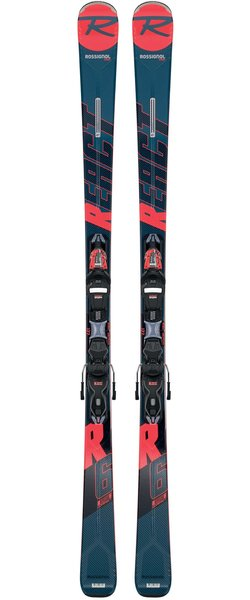 Rossignol Men's On Piste React R6 Compact + Xpress 11 GW
