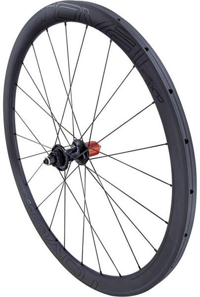 Roval CLX 40 Disc SCS Tubular Rear Wheel Color | Model: Satin Carbon/Gloss Black | Rear