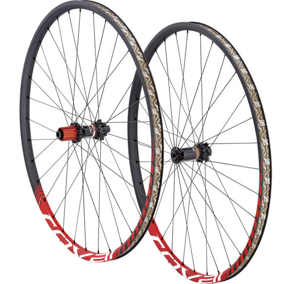 Roval Control SL 29 142+ Wheelset Color: Satin Carbon/Red Wedge