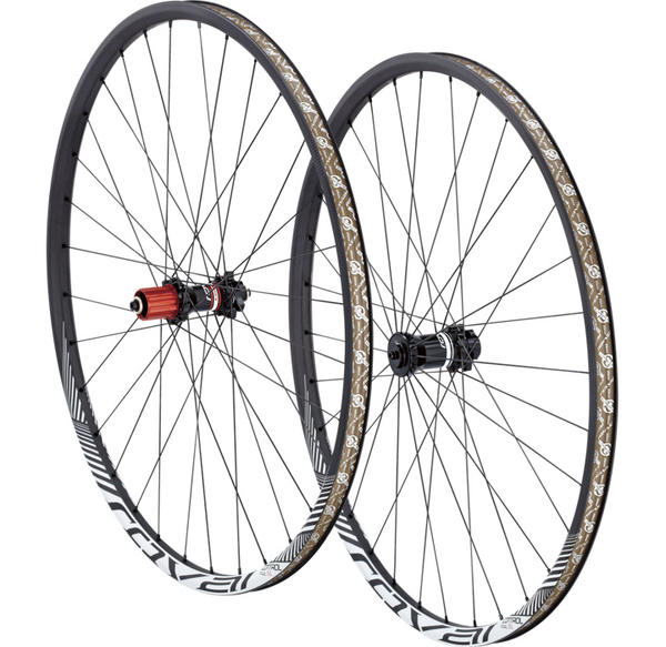 Roval Control Trail SL 29 Wheelset Color: Satin Carbon/White Wedge