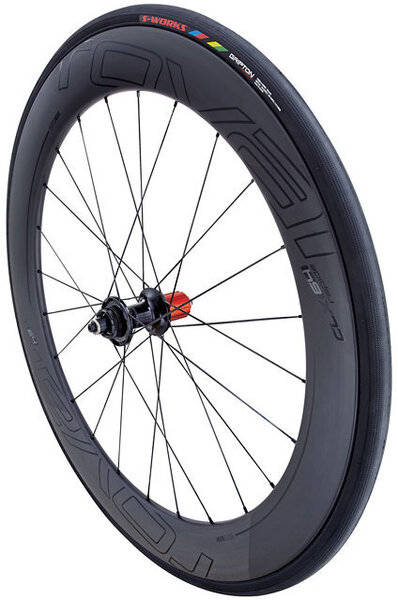 Roval CLX 64 Disc Rear Wheel Color: Satin Carbon/Gloss Black