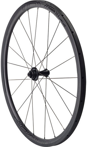 Roval CLX 32 Disc Tubular Front Color: Satin Carbon/Gloss Black