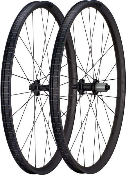 Roval Terra CLX Evo 650B Wheelset Color: Satin Carbon/Gloss Black