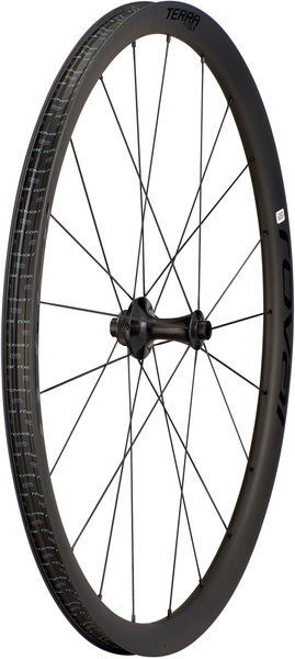 Roval Terra CLX 700c Front Wheel Color: Satin Carbon/Gloss Black