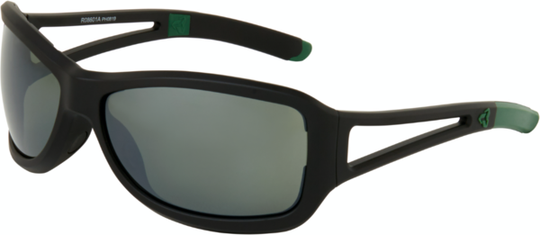 Ryders Eyewear Carnaby Color | Lens: Matte Black/Green | Green/Silver Mirror