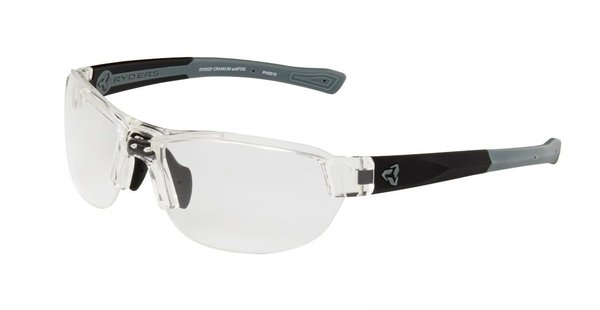 Ryders Eyewear Crankum antiFOG Color | Lens: Clear Crystal/Matte Black/Grey | antiFOG Clear