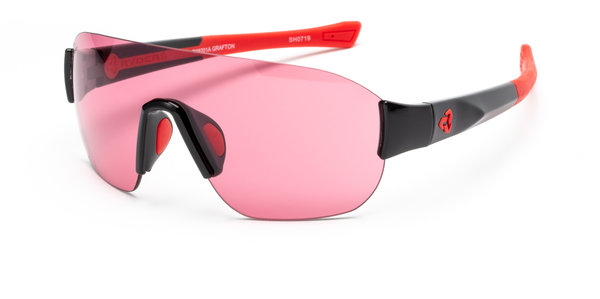 Ryders Eyewear Grafton Standard Color | Lens: Black/Red | Standard Rose